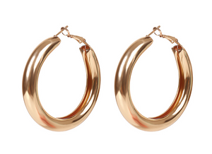 simple earrings golden