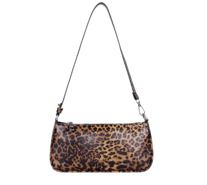 leopard baguette bag fendi bag french girl shoulder bag