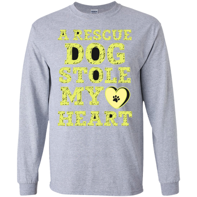 A Rescue Dog Stole My Heart Sweatshirt