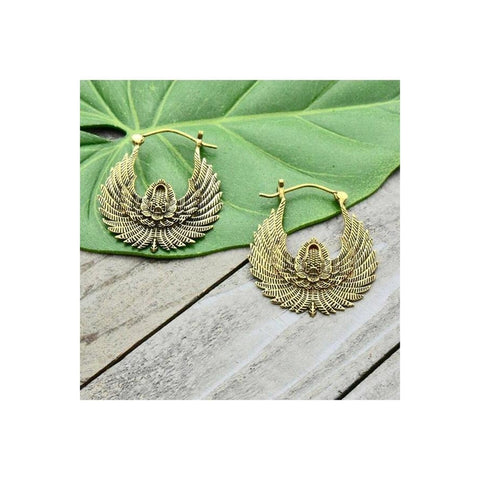 Brass Phoenix Earrings