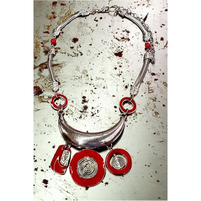 Red Sky Small Bibb Necklace