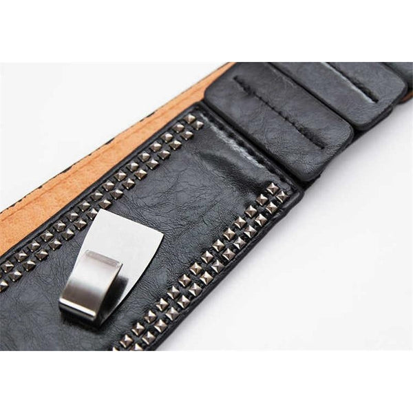 Faux Leather Cumberbund Belt