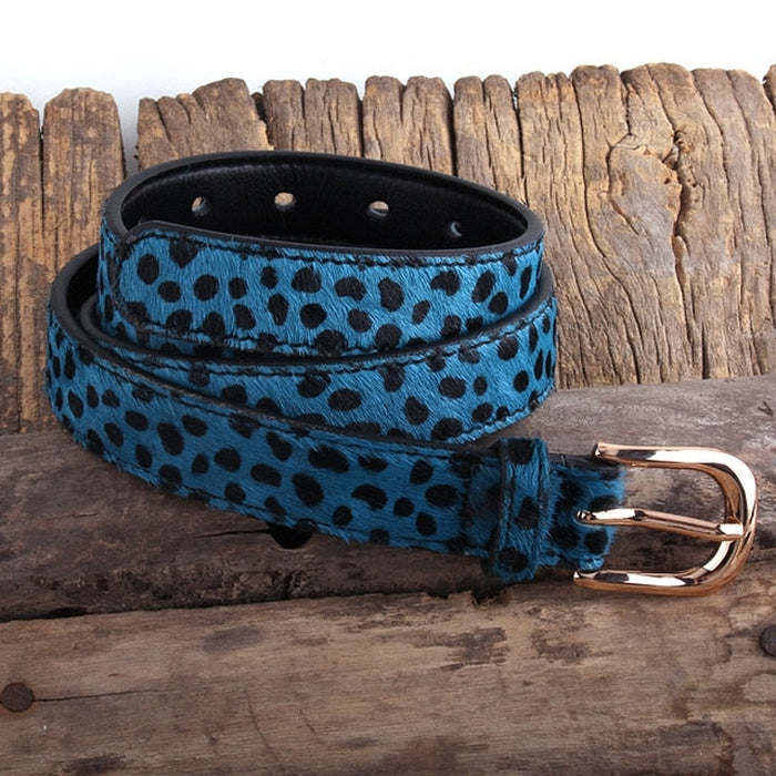 Spotted Horsehair Leather Belt