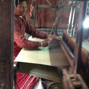 Three Yarn Weaving on a Handloom