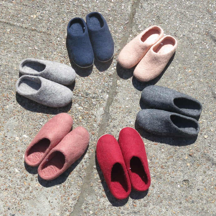 How are our felt slippers made?