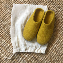 Handmade Felt Mens Slippers Suede Sole