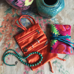 GUPTI Kaffe Fassett Print Travel Jewellery Roll