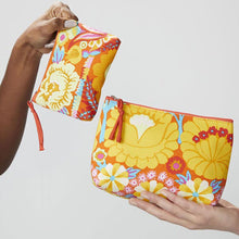 DAYA Kaffe Fassett Print Cotton Clutch Makeup Bag
