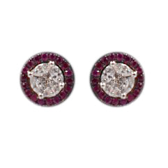 Rubi and Diamond Studs