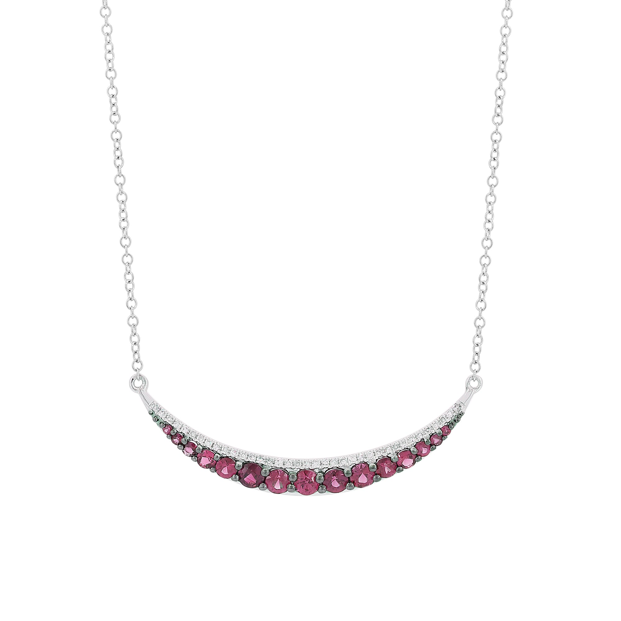 18K Gold Diamonds and Rubi Necklace