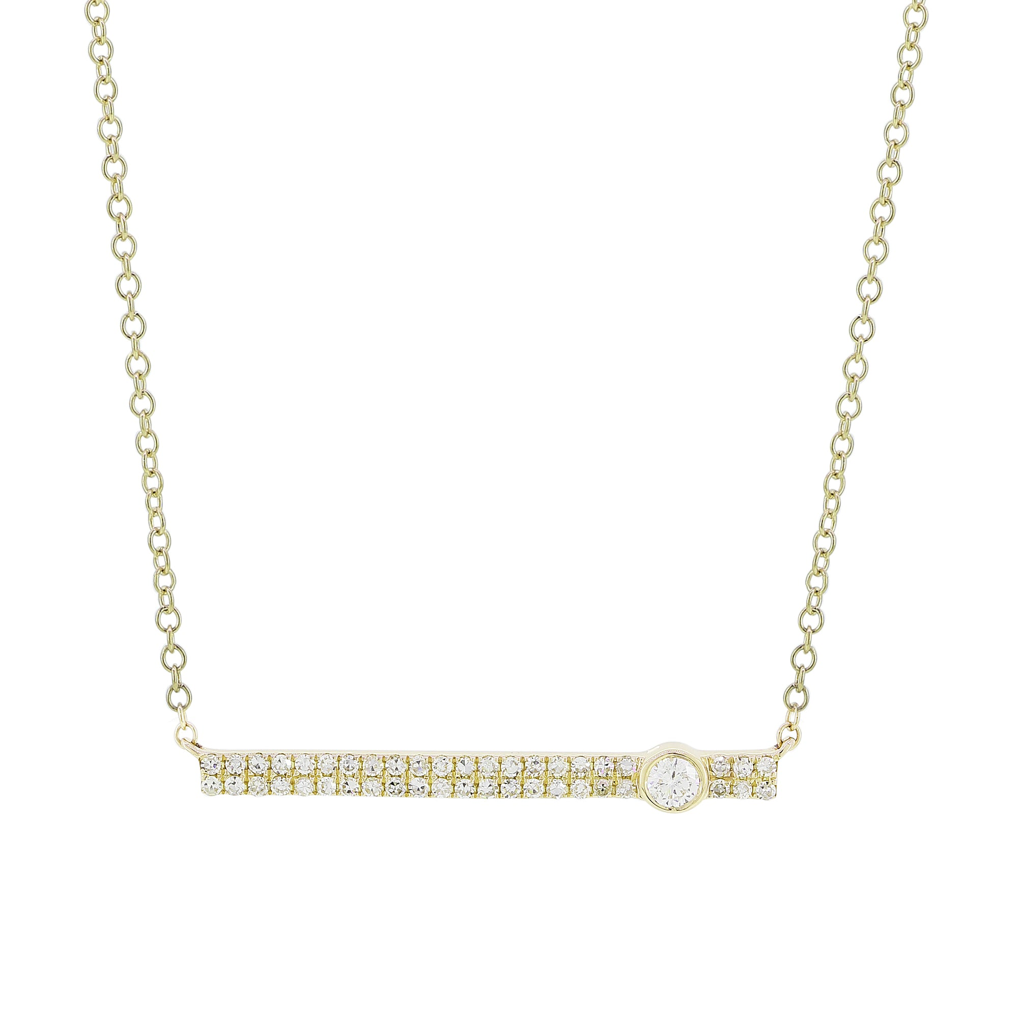 14K Yellow Gold with Diamonds Necklace