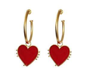 I heart you hoops earrings