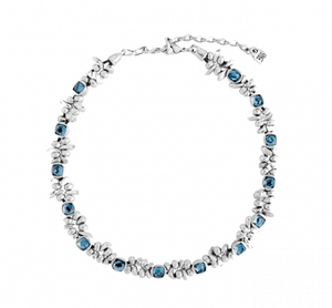 The Jejewel Unode50 Silver Plated with Blue Swarovski Necklace COL1085AZUMTL0U