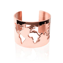 Load image into Gallery viewer, Rose Gold World Cuff