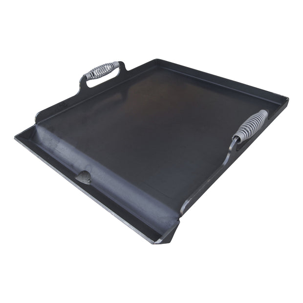 Double Burner Flat Top Griddle Plate with Cool Touch Handles