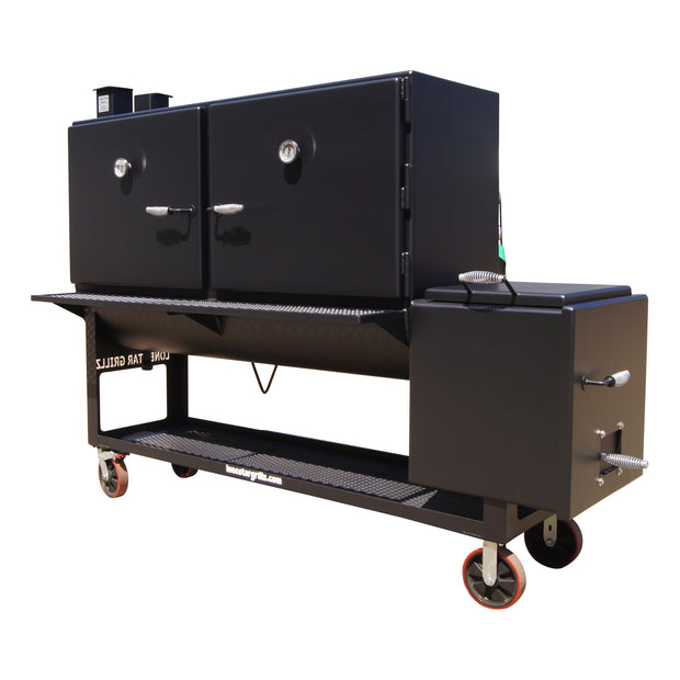 "30""x72'' Double Door Offset Cabinet Smoker"