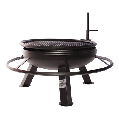 Deep Bowl Round Fire Pit With Grill