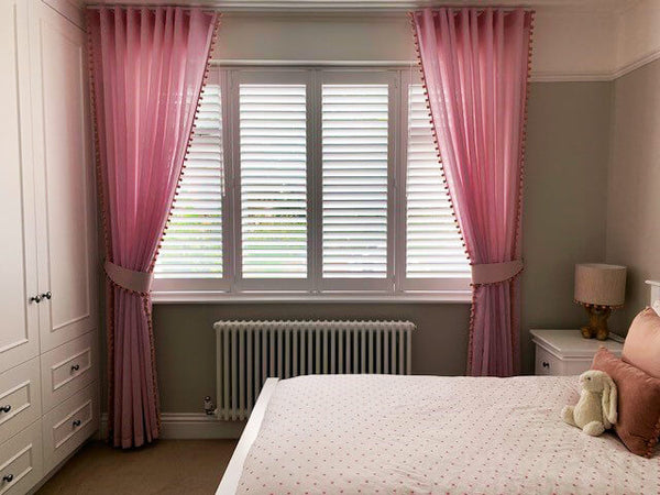 Bedroom Shutters and Curtains