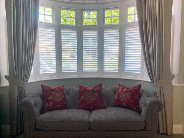 Living Room Curtains and Shutters