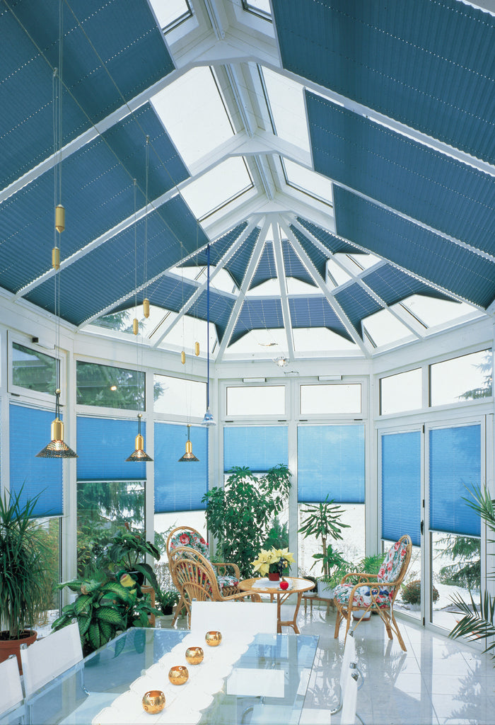 Conservatory Plissee Pleated Blinds