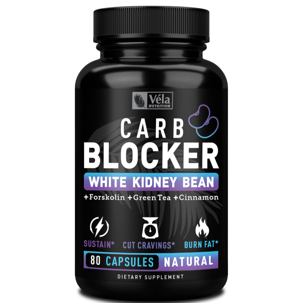 Véla Nutrition Keto Carb Blocker<span>with White Kidney Bean Extract, Forskolin, Green Tea, &amp; Cinnamon</span><span> 900mg | 40 Servings</span>