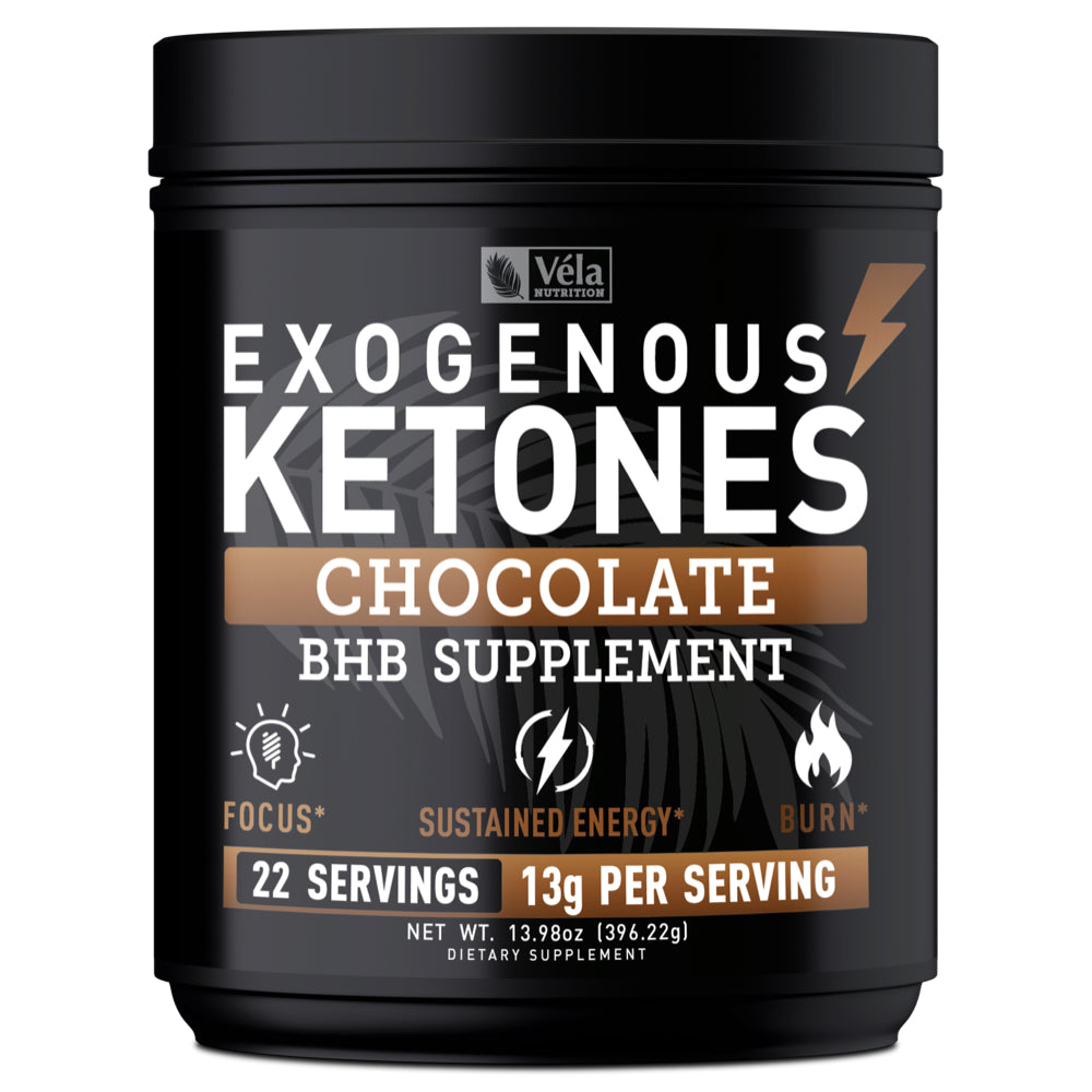 Véla Nutrition Exogenous Ketones Powder - Chocolate <span>BHB Exogenous Ketones with goBHBᴿ</span><span> 13g | 22 Servings</span>
