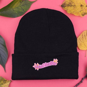 Dead Inside Patch Beanie - Pack of 3 - Extreme Largeness Wholesale