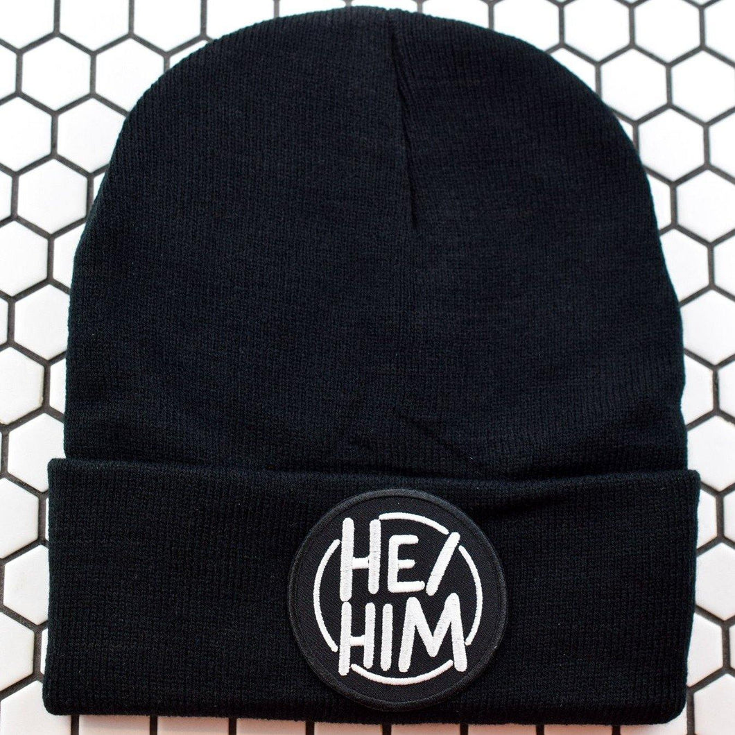 Circle HE/HIM Patch Beanie - Pack of 3