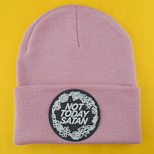 NOT TODAY SATAN PINK BEANIE - PACK OF 3 - Extreme Largeness Wholesale