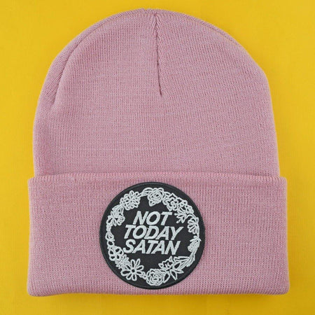 Not Today Satan Patch Beanie - Extreme Largeness Wholesale