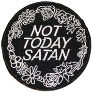 NOT TODAY SATAN PATCH - PACK OF 6 - Extreme Largeness Wholesale