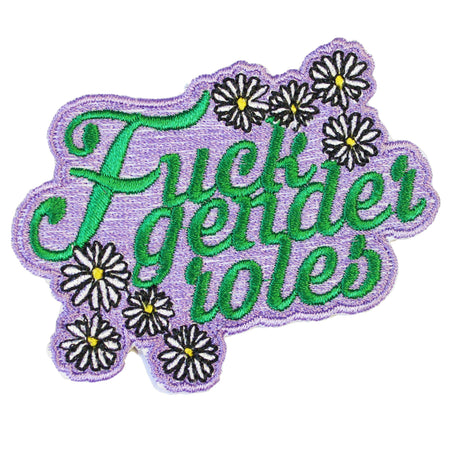 FUCK GENDER ROLES PATCH - PACK OF 6 - Extreme Largeness Wholesale