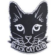 BLACK CAT CLUB PATCH - PACK OF 6 - Extreme Largeness Wholesale