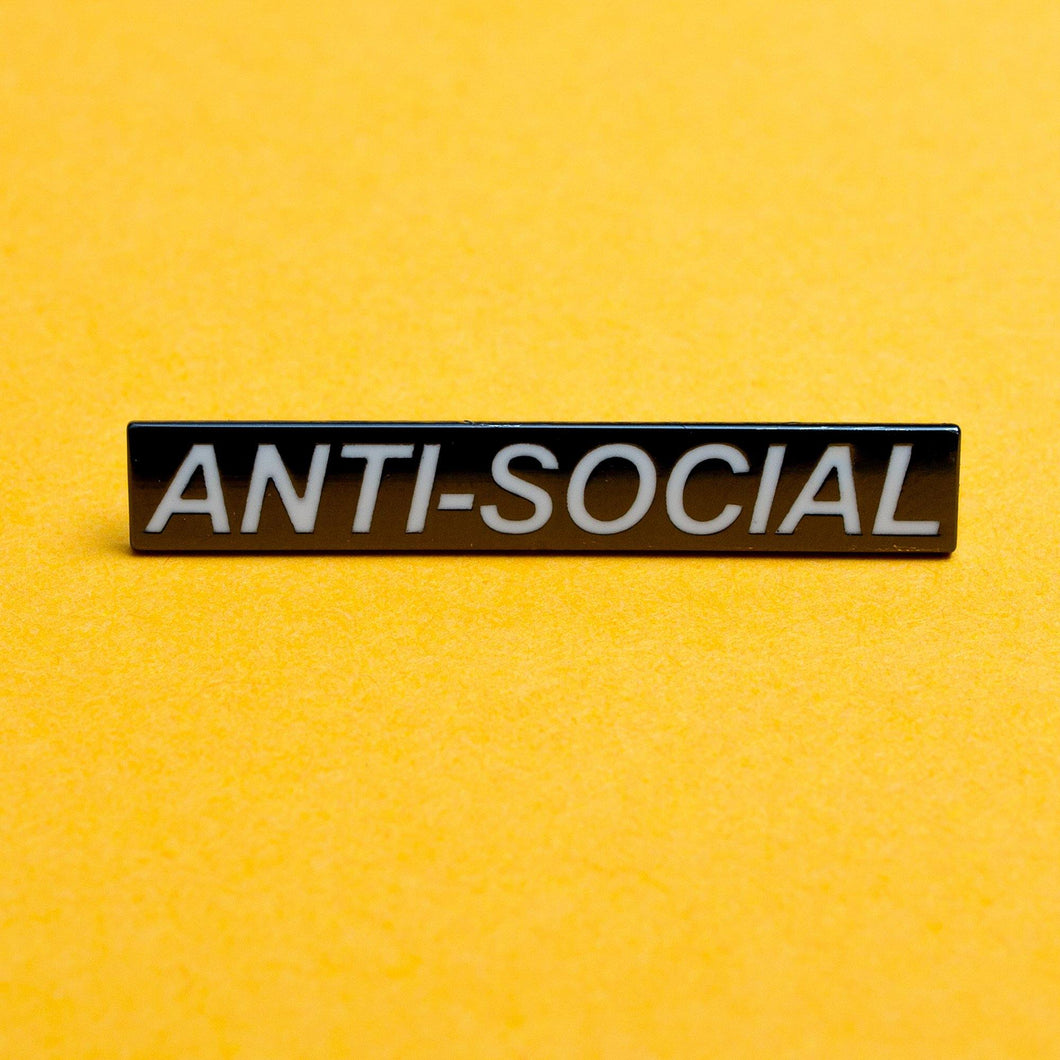 ANTI-SOCIAL ENAMEL PIN - PACK OF 5 - Extreme Largeness Wholesale