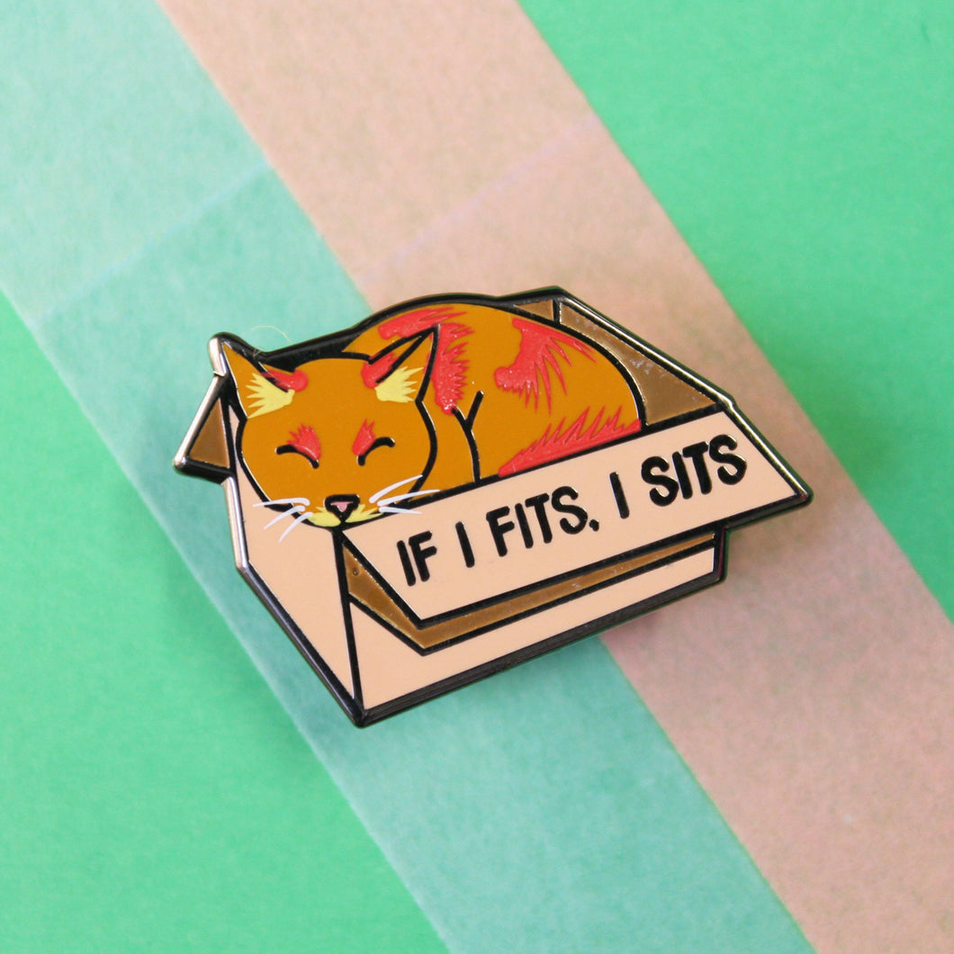 IF I FITS I SITS PIN - PACK OF 5