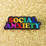 SOCIAL ANXIETY PIN - PACK OF 5 - Extreme Largeness Wholesale