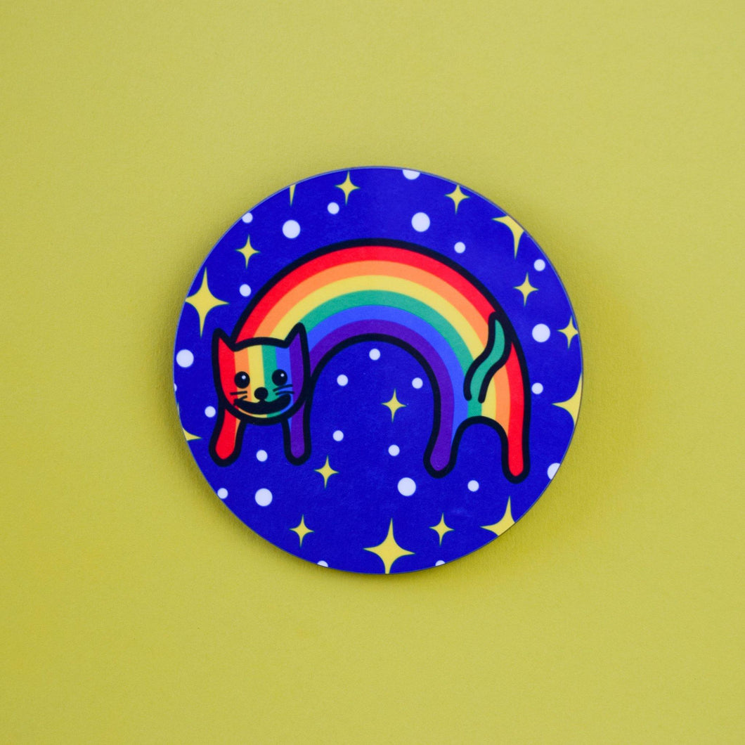 RAINBOW CAT COASTER - PACK OF 3 - Extreme Largeness Wholesale