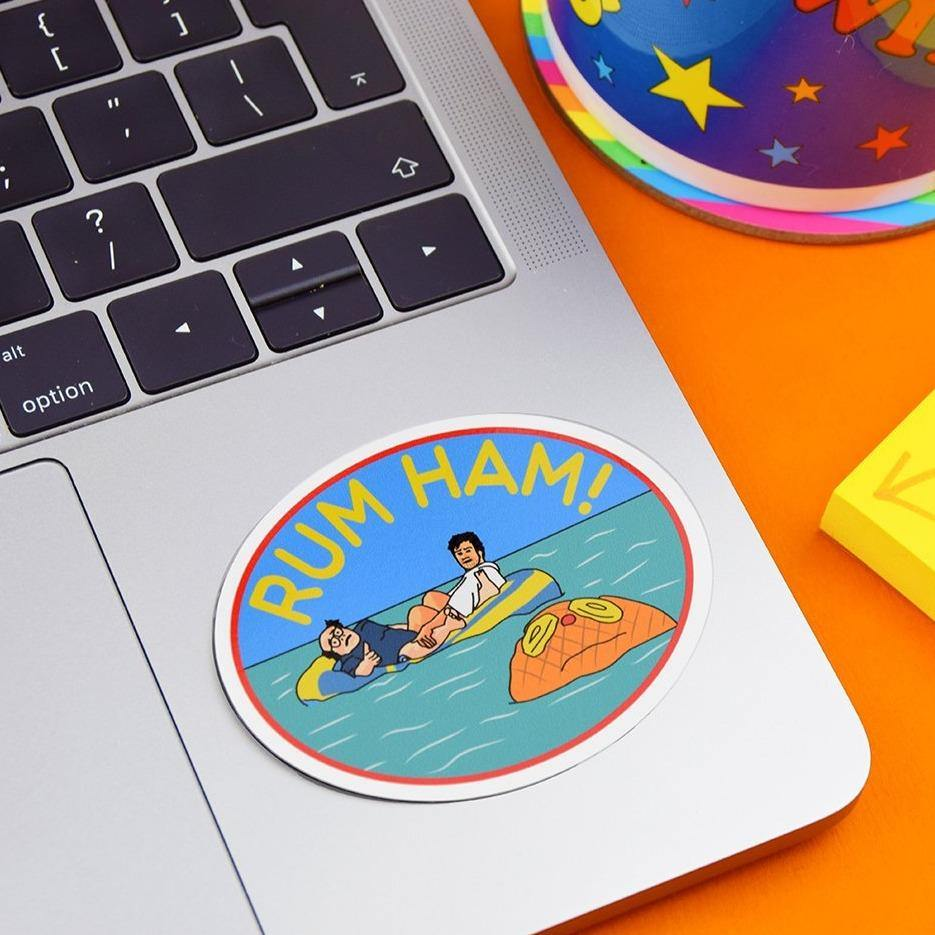 RUM HAM VINYL STICKER - PACK OF 3