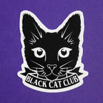 BLACK CAT CLUB STICKER - PACK OF 3 - Extreme Largeness Wholesale