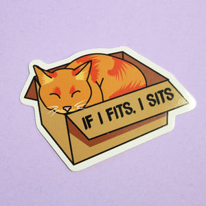 If I Fits I Sits Sticker - Extreme Largeness Wholesale
