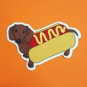 Hot Dog Daschund Sticker - Extreme Largeness Wholesale