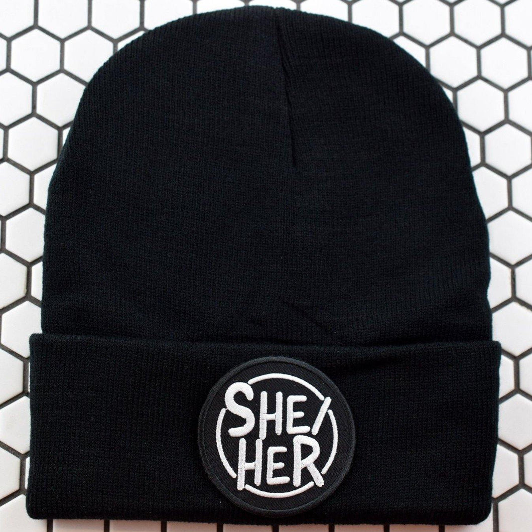 Circle SHE/HER Patch Beanie - Pack of 3