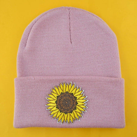 Sunflower Patch Lilac Beanie | Extreme Largeness Wholesale