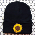 Sunflower Mandala Patch Beanie - Pack of 3 - Extreme Largeness Wholesale