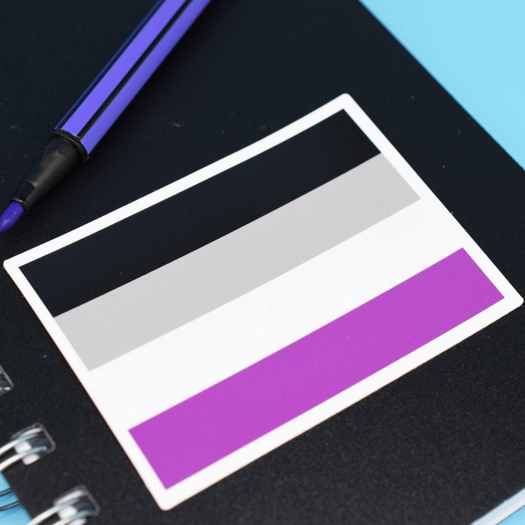 ASEXUAL FLAG STICKER - PACK OF 3 - Extreme Largeness Wholesale