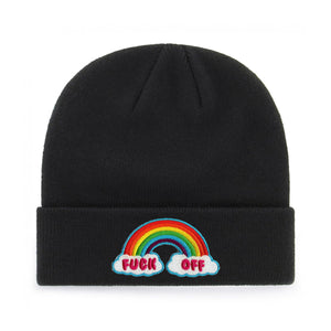 FUCK OFF RAINBOW BEANIE - PACK OF 3 - Extreme Largeness Wholesale
