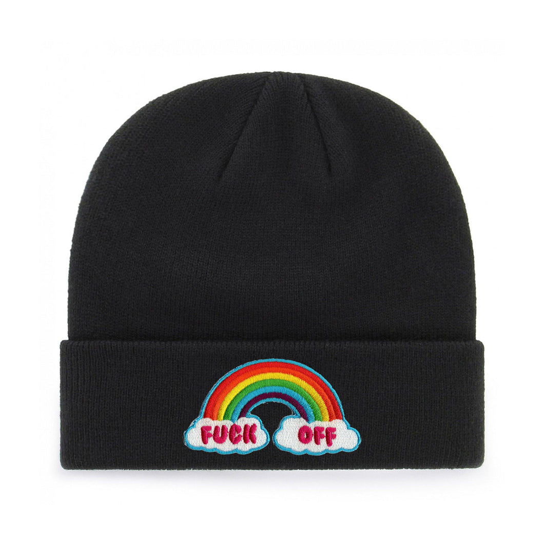 FUCK OFF RAINBOW BEANIE - PACK OF 3