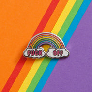 FUCK OFF RAINBOW PIN - PACK OF 5