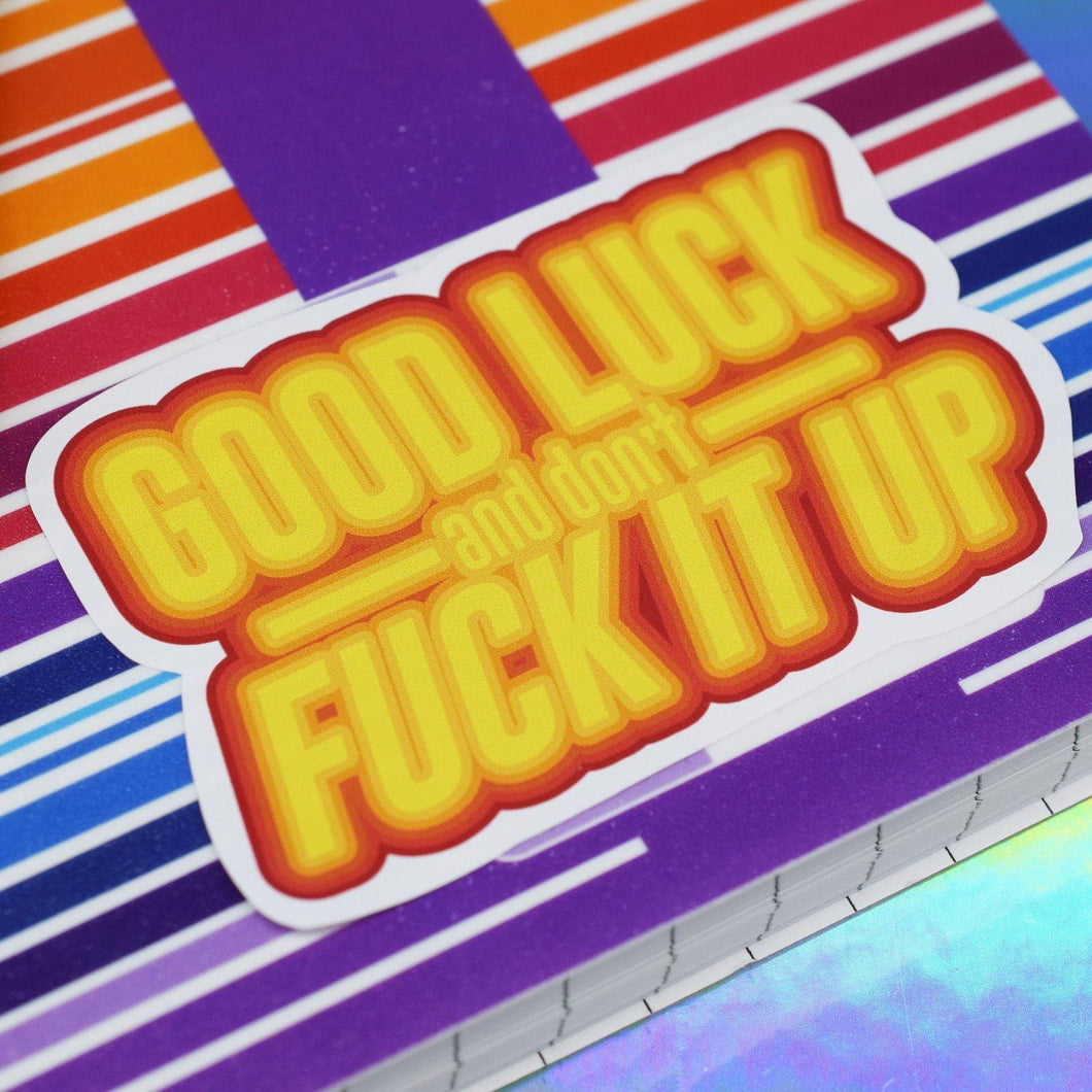 GOOD LUCK VINYL STICKER - PACK OF 3 - Extreme Largeness Wholesale