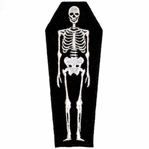 SKELETON COFFIN PATCH